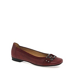 Gabor - Dark red 'Montana' Ballet Pumps