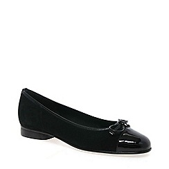 Gabor - Black 'Bunty' leather ballet pumps