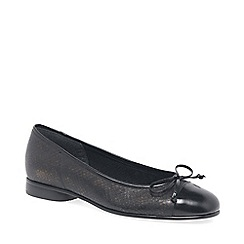 Gabor - Dark grey 'Bunty' leather ballet pumps