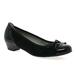 Gabor - Black 'Delius' court shoes