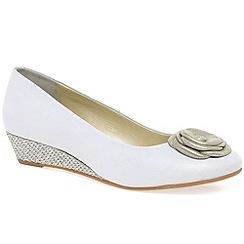 Van Dal - White 'Gabriel' women's court shoes