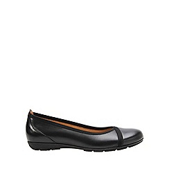 Gabor - Near black 'Evangeline' ballet pumps