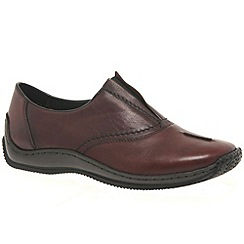 Rieker - Maroon 'Cookie' Womens Casual Shoes