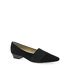Peter Kaiser - Black 'Lagos' Low Heel Suede Court Shoes