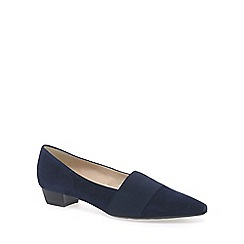 Peter Kaiser - Navy 'lagos' low heel suede court shoes