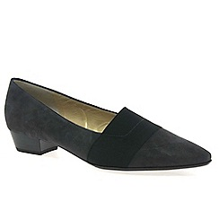 Peter Kaiser - Grey 'Lagos' low heel suede court shoes
