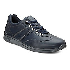 Ecco - Navy 'mobile II' womens casual leather trainers