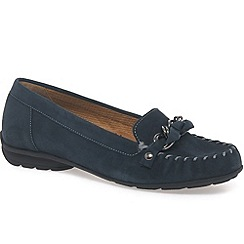 Gabor - Navy 'casa' womens nubuck casual shoes