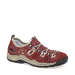 Rieker - Red 'Bungee' womens casual sports shoes