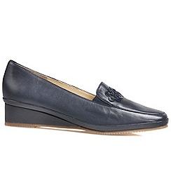 Van Dal - Navy 'Napa II' women's wedge heel shoes