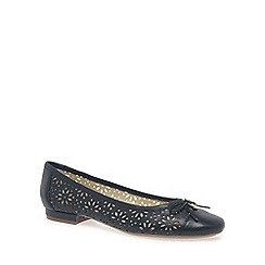 Van Dal - Navy 'Marianna' Womens Wide Fit Ballet Pumps