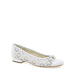 Van Dal - White 'Marianna' Womens Wide Fit Ballet Pumps