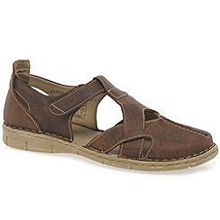 Josef Seibel - Brown 'Amanda' Womens Rip Tape Fastening Sandals