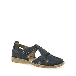 Josef Seibel - Navy 'Amanda' Womens Rip Tape Fastening Sandals