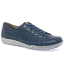 Josef Seibel - Navy 'Dany 21' women's casual lace up trainers