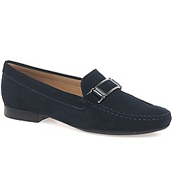 Maria Lya - Navy 'dalila' womens moccasin shoes