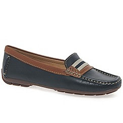 Maria Lya - Navy 'Dee' women's moccasin shoes
