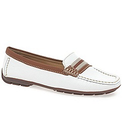 Maria Lya - White 'Dee' women's moccasin shoes