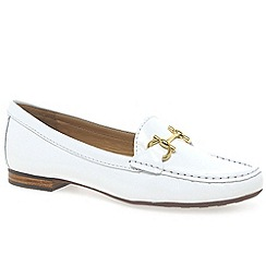 Maria Lya - White 'sunflower' womens moccasin shoes