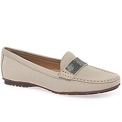 Maria Lya - Beige 'antonio' womens moccasin shoes