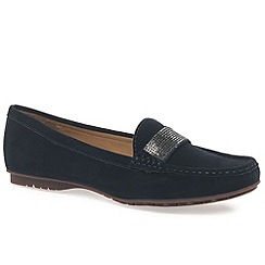 Maria Lya - Navy 'antonio' womens moccasin shoes