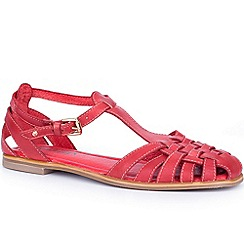 Pikolinos - Red 'Menorca' Womens T Strap Sandals