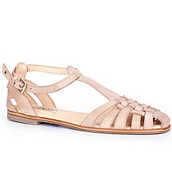 Pikolinos - Beige 'Menorca' Womens T Strap Sandals