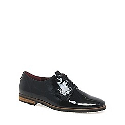 Gabor - Black patent 'Gondola' womens lace-up shoes