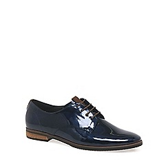 Gabor - Dark blue patent 'Gondola' womens lace-up shoes