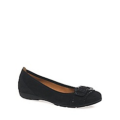 Gabor - Black 'Millie' womens nubuck ballet pumps