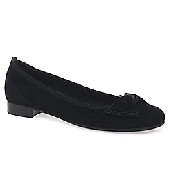 Gabor - Black 'Marlene' womens black suede ballet pumps