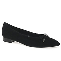 Gabor - Black 'Utah' womens suede ballet pumps