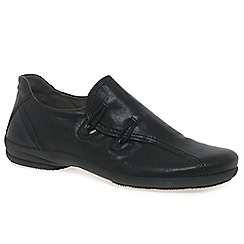 Gabor - Black 'Rush' womens leather casual shoes