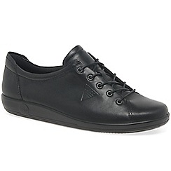Ecco - Black 'Soft 2 Lace' Womens Casual Shoes