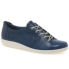 Ecco - Dark blue 'Soft 2 Lace' Womens Casual Shoes