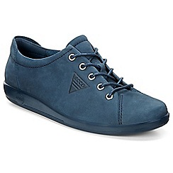 Ecco - Blue 'Soft 2 Lace' Womens Casual Shoes