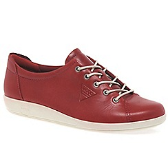 Ecco - Red 'Soft 2 Lace' Womens Casual Shoes