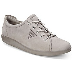 Ecco - Light grey 'Soft 2 Lace' Womens Casual Shoes