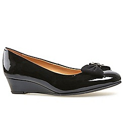 Van Dal - Black patent 'Marion' wedge courts