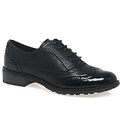 Marco Tozzi - Black 'Duchess' womens casual brogue shoes