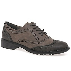 Marco Tozzi - Brown 'Duchess' womens casual brogue shoes