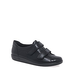 Ecco - Black 'Soft 2 strap' womens casual trainers