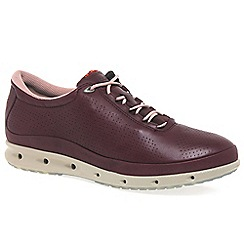 Ecco - Maroon 02 womens casual sports trainers