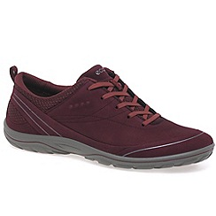 Ecco - Wine 'Arizona' womens casual sports trainers