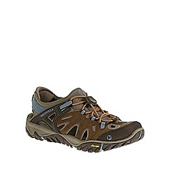 Merrell - Brown 'All Out Blaze Sieve' Womens Cut Out Hiking Shoes