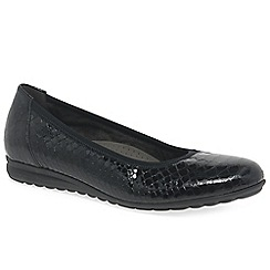 Gabor - Near black 'Splash' flat shoes