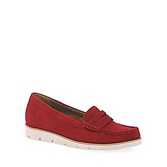 Gabor - Red 'Portland' Womens Slip On Shoes