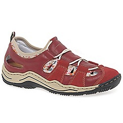 Rieker - Red 'Cord' Womens Casual Sports Shoes