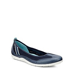 Ecco - Navy 'Bluma Ballerina' Womens Shoes