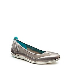 Ecco - Silver 'Bluma Ballerina' Womens Shoes